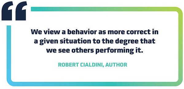 Robert Cialdini about the Psychology of Social Proof