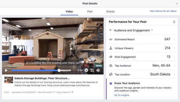 Dakota Storage Buildings utilizes video in their social media marketing plan