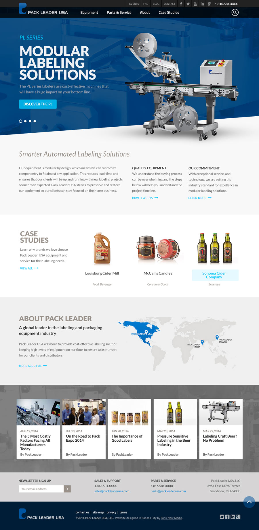Pack Leader USA Website Homepage