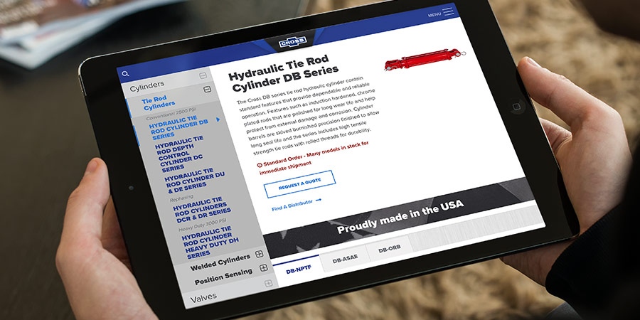 Website Redesign for Hydraulic Components Manufacturer in KS