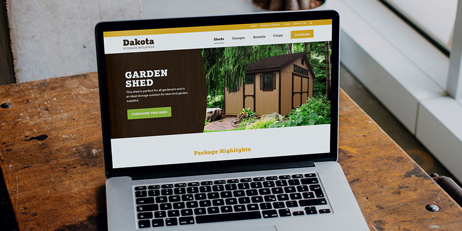 A Website Redesign that Supported the Growth of a Midwest Shed Manufacturer
