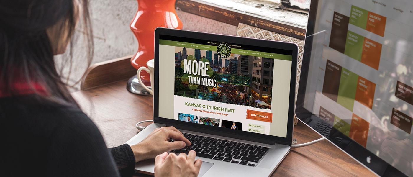 KC Irish Fest Website Redesign