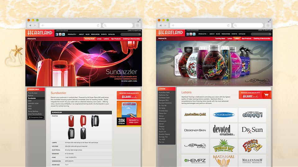 Heartland Tan Website Redesign